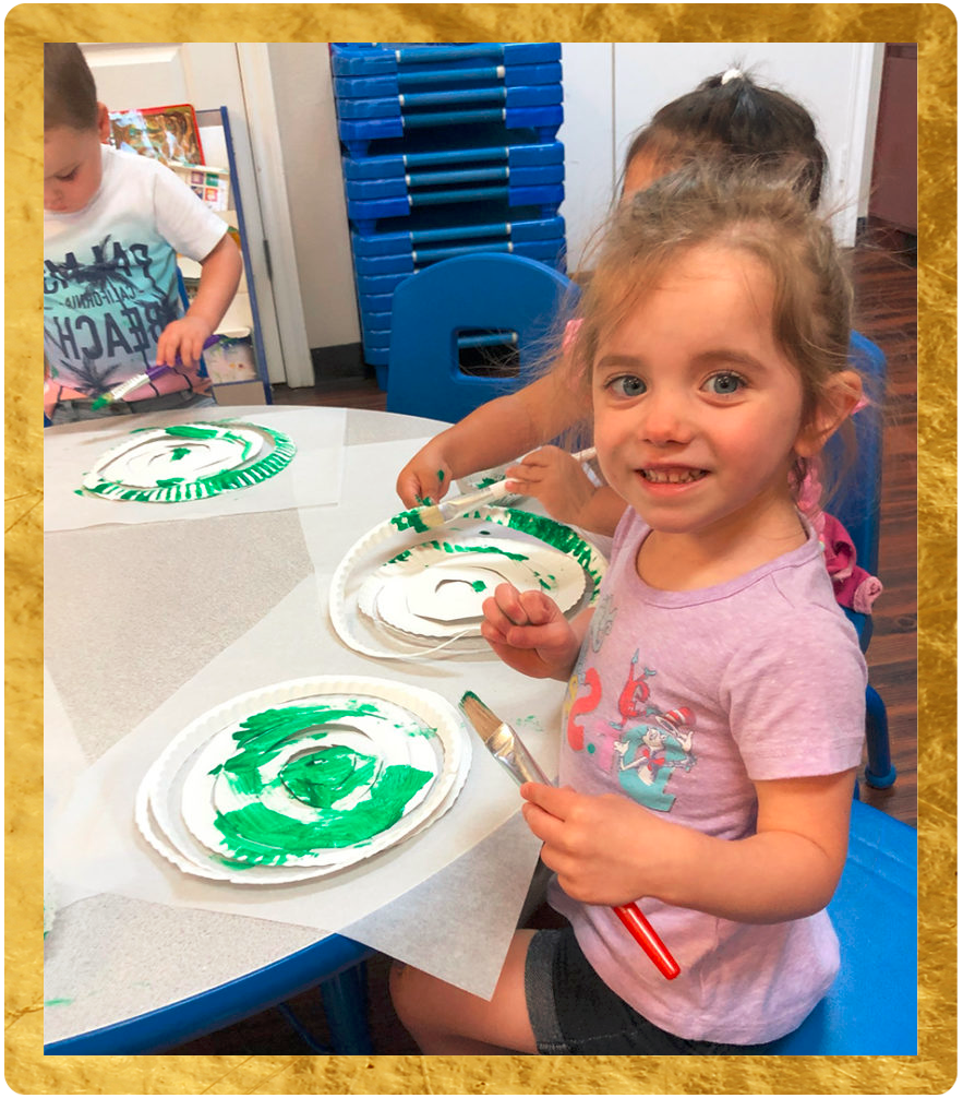 happy kids doing art at a Preschool & Childcare Center Serving Keller, TX
